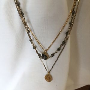 Satya Jewelry Gunmetal & Gold Celestial Necklace